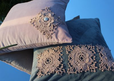 E-shaped Home collection ROSE THORN_BLUE SKY